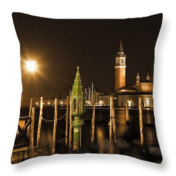 Throw Pillow featuring the photograph Night Lights by Marion Galt