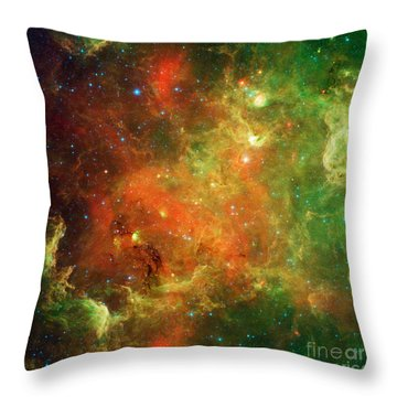 North America Nebula Throw Pillow by Science Source