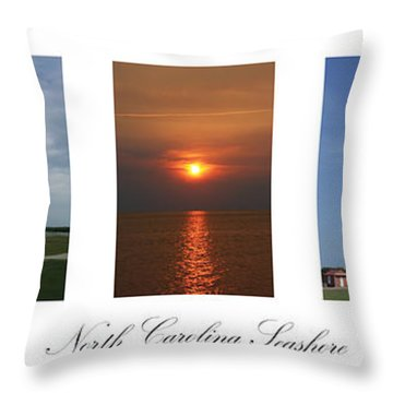 North Carolina Seashore Throw Pillow