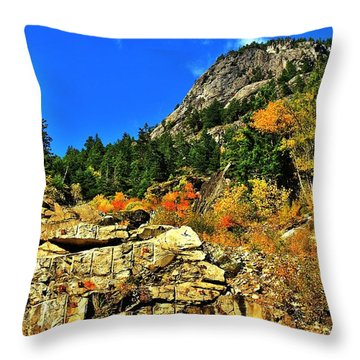 North Cascades  Throw Pillow by Benjamin Yeager
