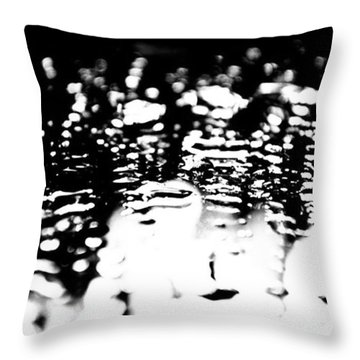 Water On The Mirror Throw Pillow by Jason Michael Roust