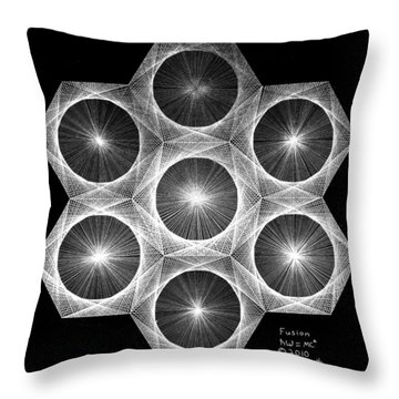 Nuclear Fusion Throw Pillow by Jason Padgett