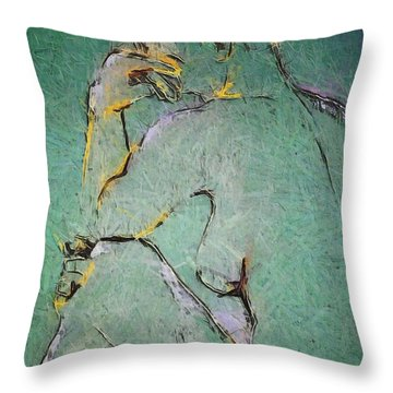 Throw Pillow featuring the drawing Nude IIi  by Dragica  Micki Fortuna