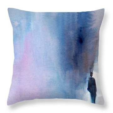 The Only Way Throw Pillow by Ed  Heaton