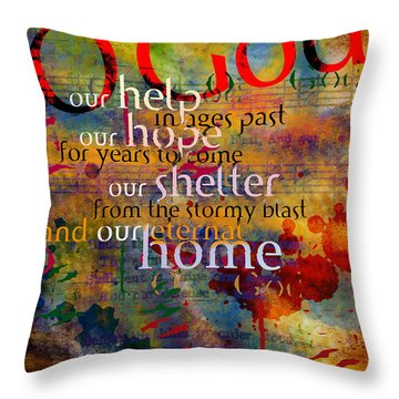 O God Our Help Throw Pillow