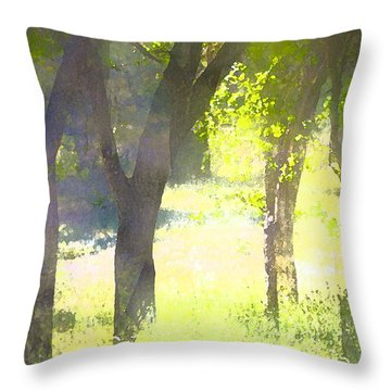 Oaks 25 Throw Pillow by Pamela Cooper