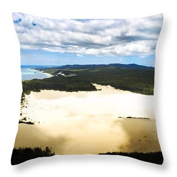 Oasis In Tropical Paradise Throw Pillow
