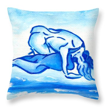 Ocean Of Desire Throw Pillow