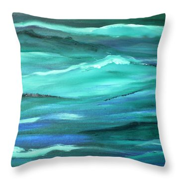 Ocean Swell By V.kelly Throw Pillow