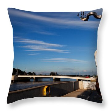 Oconnor Sculpture, Grattan Quay Throw Pillow