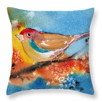 Throw Pillow featuring the painting October Third by Anne Duke