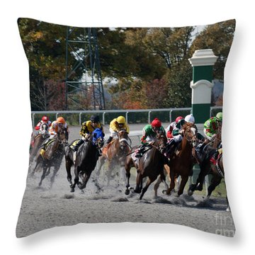 October Tradition Throw Pillow by Roger Potts