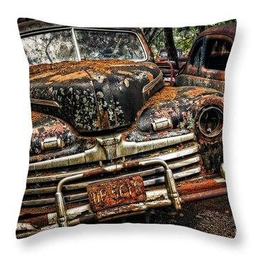 Old Rusty Ford Throw Pillow