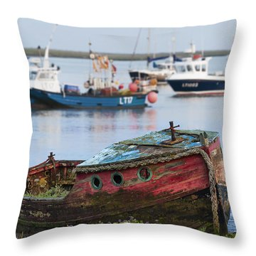 Old Boat Throw Pillow by Svetlana Sewell