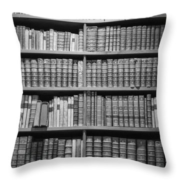 Throw Pillow featuring the photograph Old Books by Chevy Fleet
