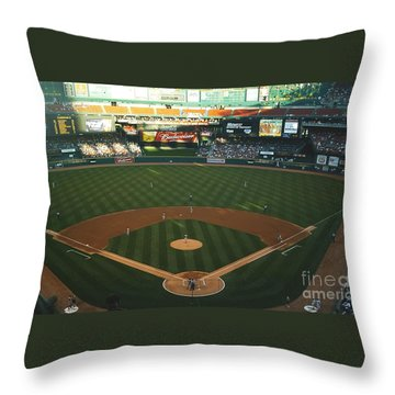Throw Pillow featuring the photograph Old Busch Field by Kelly Awad