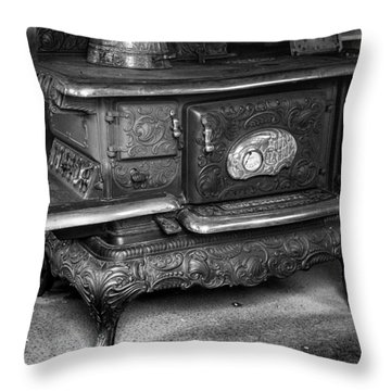 Old Clarion Wood Burning Stove Throw Pillow by Lynn Palmer