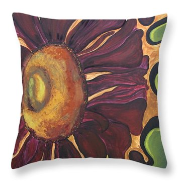 Old Fashion Flower Throw Pillow