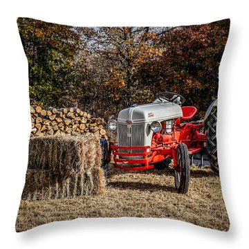 Old Ford Tractor Throw Pillow by Doug Long