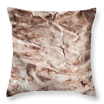 Old Grunge Creased Paper Texture. Retro Vintage Background Throw Pillow by Michal Bednarek