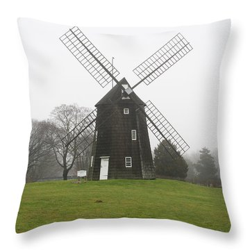 Old Hook Mill Throw Pillow