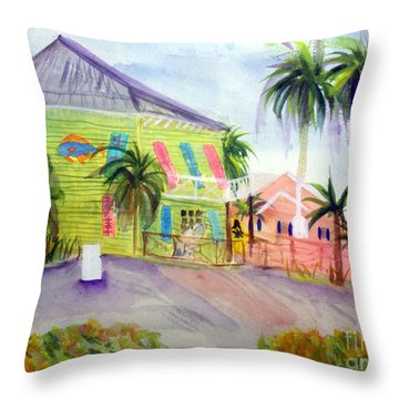 Old Key Lime House Throw Pillow by Donna Walsh