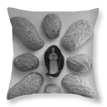 Old Man In The Peanut Throw Pillow