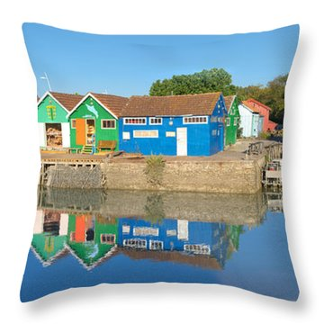 Old Oyster Farmers Shacks, Le Chateau Throw Pillow