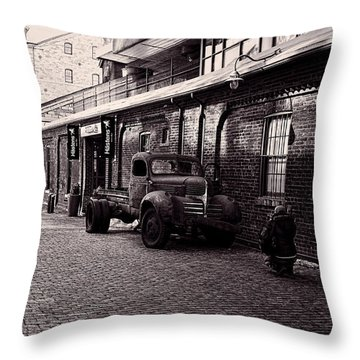 Old Rusty Throw Pillow by Nicky Jameson