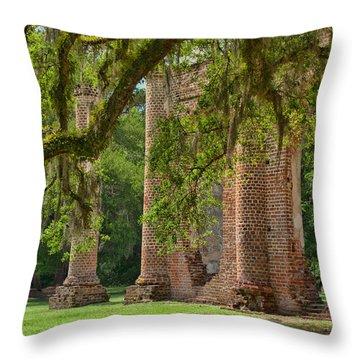 Old Sheldon Church Throw Pillow