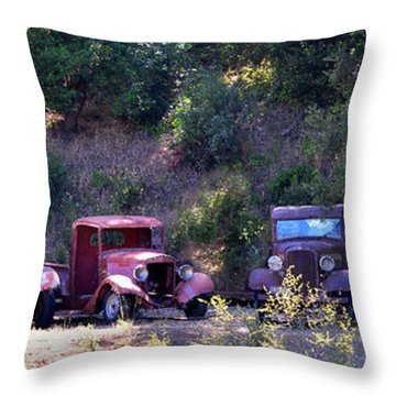 Oldtimers Rendezvous Throw Pillow by Lynn Bauer