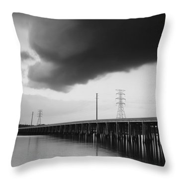 Ominous Cloud Throw Pillow by Phill Doherty