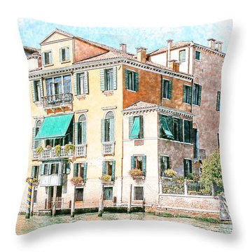 On The Canal Grande Throw Pillow