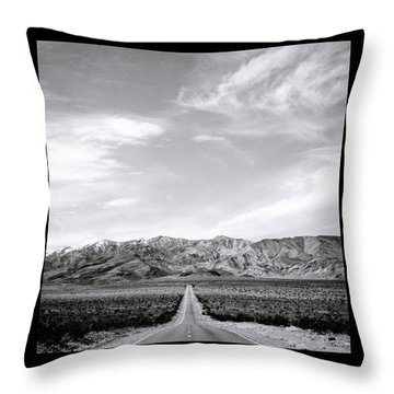On The Road Throw Pillow by Shaun Higson