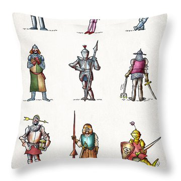 One Knight Stands Throw Pillow