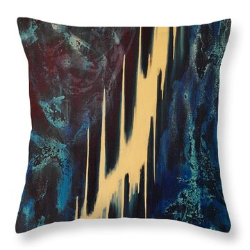 Only One Way Throw Pillow by Wayne Cantrell