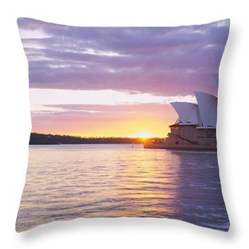 Opera House At The Waterfront, Sydney Throw Pillow by Panoramic Images