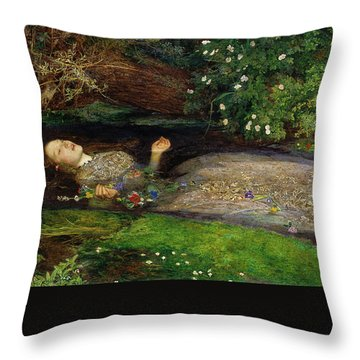 Throw Pillow featuring the painting Ophelia by John Everett Millais