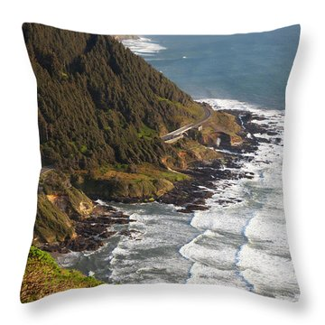 Cape Perpetua Throw Pillows