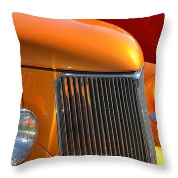 Orange Hotrod Throw Pillow
