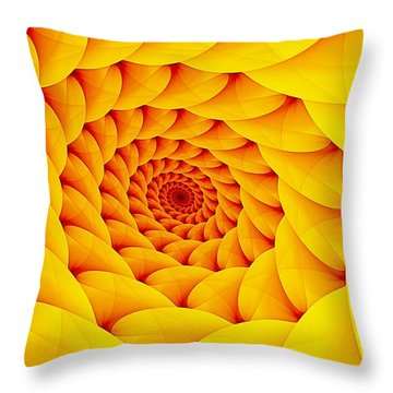 Yellow Pillow Vortex Throw Pillow