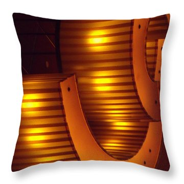 Throw Pillow featuring the photograph Orange Swirl 9 by Lyric Lucas