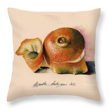 Orange..navel Throw Pillow