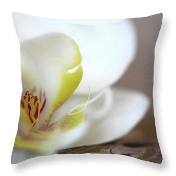 Orchid Throw Pillow by AR Annahita