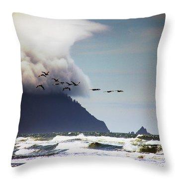 Beach Throw Pillow featuring the photograph Oregon Coast  by Aaron Berg