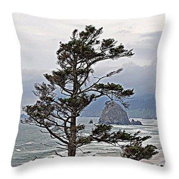 Oregon Coastline Throw Pillow
