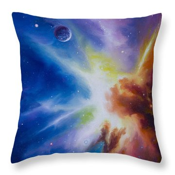 Origin Nebula Throw Pillow