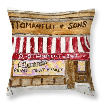 Ottomanelli And Sons Throw Pillow by AFineLyne