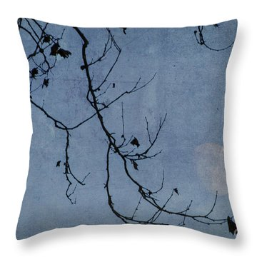 Out On A Limb Throw Pillow by Judy Wolinsky