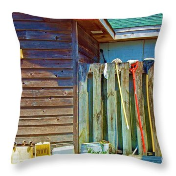 Out To Dry Throw Pillow by Debbi Granruth